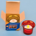 Model:HDD-01  Name:LED tea candle with glass